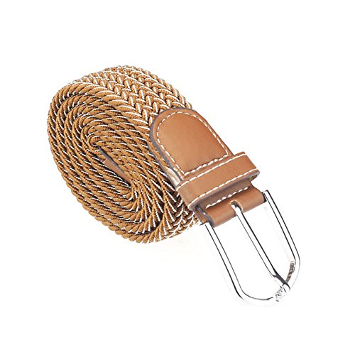 Mens Canvas Belt ! Charberry Men Casual Canvas Belt Elastic Rubber Concise Belt Metal Buckle Belt (D) from Charberry