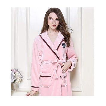 Pijamas Vestido, ceñidos para Mujer de Talla Grande, para Mujer Coral Fleece Súper Suave