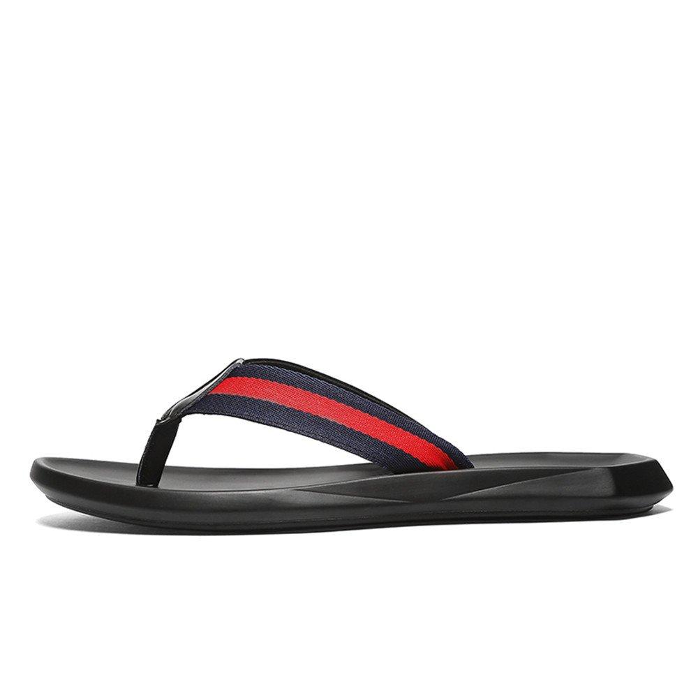 0b3d04e8182 Men s Casual Thong Flip Flops Shoes Genuine Leather Beach Slippers Non-Slip  Soft Flat Sandals Black