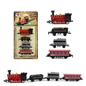 VENMO Clockwork Wind Up Tin Train Toys Car Kids Christmas Gift Simulated Retro Classical Alloy Train Model (Black) Vehicles & Boats