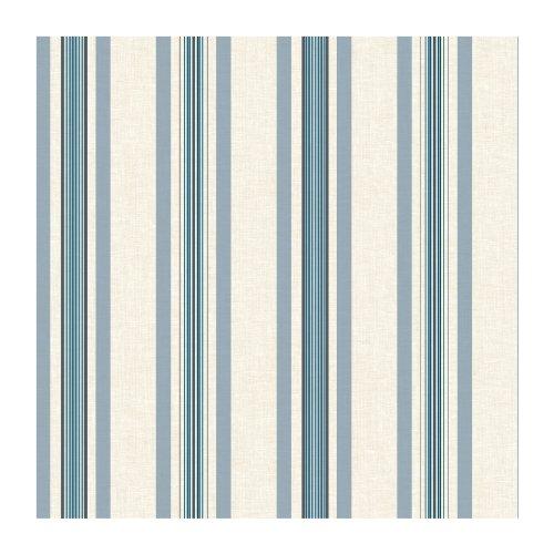 York Wallcoverings SA9120 Ashford Stripes Multi Pinstripe Wallpaper, Beige/Blue