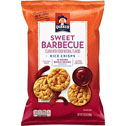 Quaker Rice Crisps, Sweet Barbecue, 3.03 oz Bags, 12 Count (Packaging May -