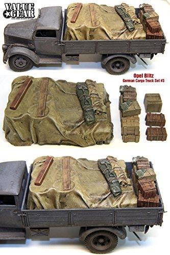 1/35 Opel Blitz cargo set 3 German [GOB03] Opel Blitz German Cargo Truck Load # (Opel Blitz Cargo Truck)