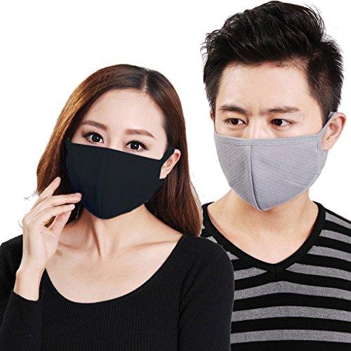 unisex 3 pcs activated carbon cotton masks exo anti dust allergy flu muffle outdoor anti fog