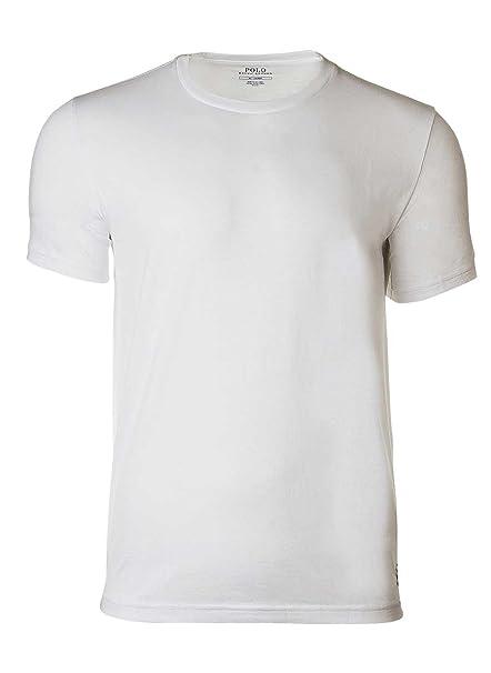 Polo Ralph Lauren Camiseta de Hombre, Cuello Redondo, algodón, Liso con Logo -