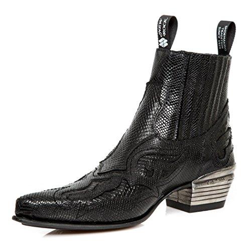 New Rock NEWROCK Nr M.WST048 S1 Black Boots - Mens DTGnCUmhFl
