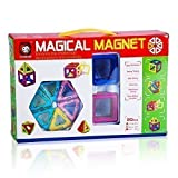 Phoenixnet Magnet Building Blocks Stacking Blocks Learning Toy Set for Kids Magnet Building Tiles Blocks for Children, 20 Pieces