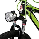 Gift Prod 1 Pcs Bicycle Headlight Retro Bike Lamp Accessory Front Light Bracket Vintage 7LED Headlight with Chrome Accent, Silver (Style 3)