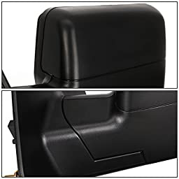 Ford F150 Black Textured Telescoping Manual Folding Side Towing Mirror (Left)