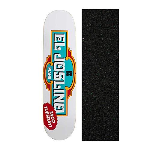 Plan B El Joslino 8 inch Skateboard Deck with Mob Glitter Grip Tape