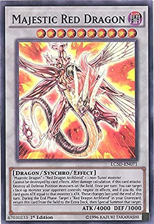 YU-GI-OH! - Majestic Red Dragon (LC5D-EN071) - Legendary Collection 5Ds Mega Pack - 1st Edition - Super Rare by: Amazon.es: Juguetes y juegos