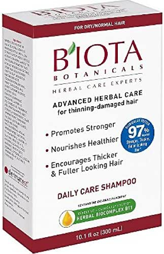 B'IOTA Botanicals Herbal Care Experts Daily Care Shampoo For Normal/Dry Thinning Hair 10.1 oz ( Pack of 2)