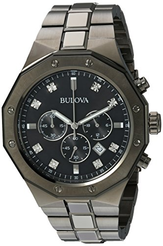 Bulova-Mens-Quartz-Stainless-Steel-Casual-Watch-ColorGrey-Model-98D142