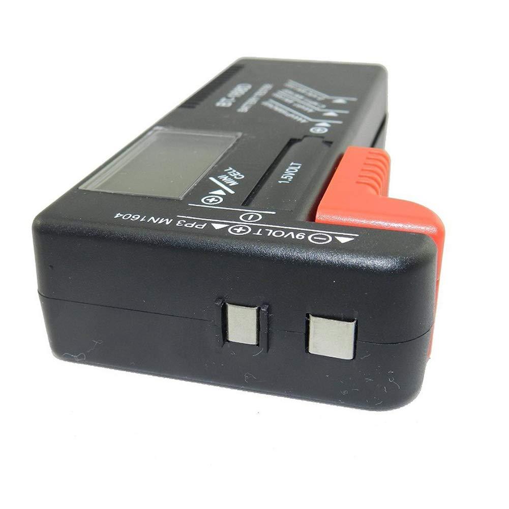 Fai da Te e Strumenti Trifycore Batteria mobilia Batteria Digitale del Tester per batterie a 9V Cellulare 1,5V AAA Piccolo Tasto BT-168D