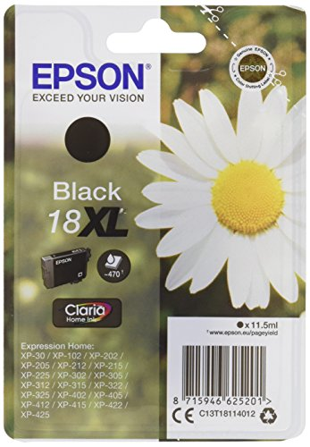 Epson C13T18114012 11.5ml - Cartucho de tinta para impresoras (Epson, Negro, XP-30/ XP-102/ XP-202/ XP-205/ XP-212/ XP-215/...