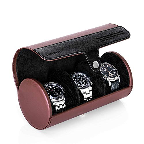 5af900b52156 TRIPLE TREE Watch Roll, Travel Watch Case for 3 Watches, Travel ...