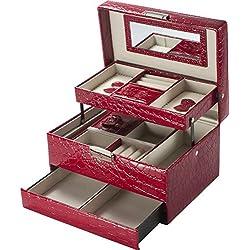 BARSKA Cheri Bliss Jewelry Case, 8.75 x 6.2 x 5-Inch