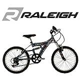 "Raleigh Extreme Warp Unisex Full Suspension 20"" Wheel Silver Bike by Raleigh"