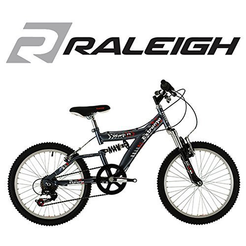 Raleigh Extreme Warp Unisex Full Suspension 20 Wheel Silver Bike