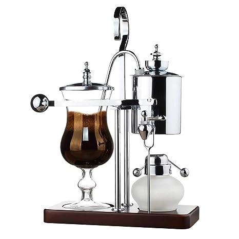 Coffee Pot Home Máquina de café manual Sifón de acero inoxidable (Color : Oro,