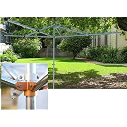 Outdoor Adjustable 230ft Top-Spinner Rotary 4-Arm Clothesline Dryer - Breezecatcher #hd4-270