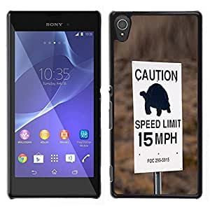 For Sony Xperia T3 , S-type® Turtle Slow Speed Limit Car Driver - Arte & diseño plástico duro Fundas Cover Cubre Hard Case Cover