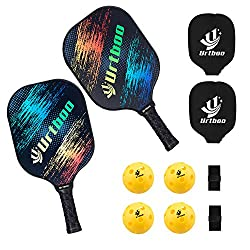 100% DURABLE GRAPHITE PICKLEBALL SET PADDLE Feature a composite carbon fiberglass surface and a polymer honeycomb core for increased accuracy and excellent quiet shot 100% CONTROL - Maximize your gaming potential with lightweight pickleball paddles e...