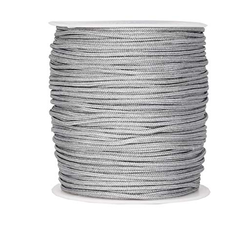 (Mandala Crafts Blinds String, Lift Cord Replacement from Braided Nylon for RVs, Windows, Shades, and Rollers (2mm, Gray))