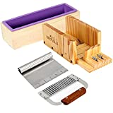 Product review for Nicole Silicone Loaf Soap Mold Set-4 Wooden Cutter Box With 2 Pieces Stainless Steel Blade for DIY Handmade Tool
