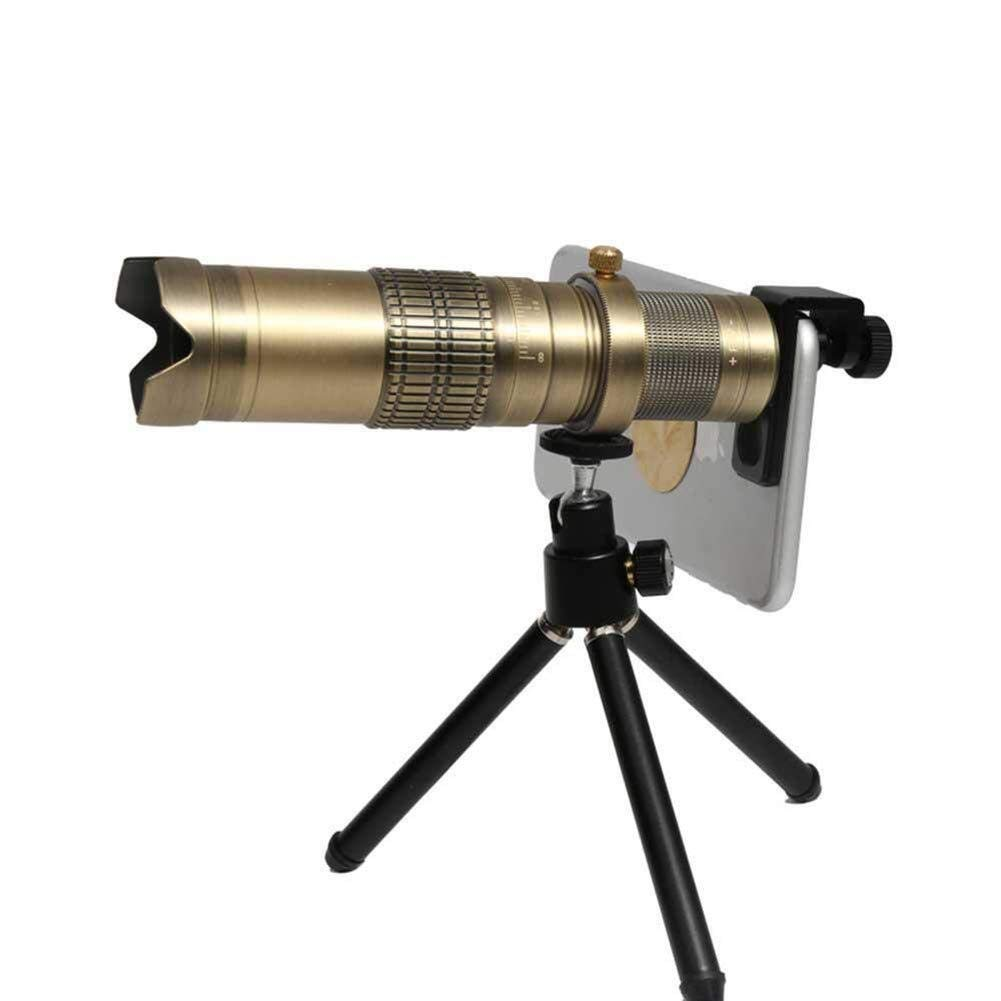 EGCLJ Mobile Phone Telescope - Monocular Telescope - Multi-Function Telescope - Bird Watching Camping - 22X (Color : B)