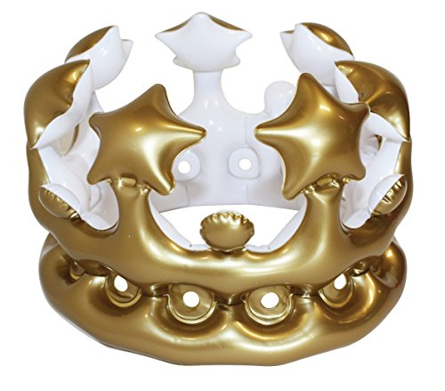 NPW USA Queen Inflatable Crown Gold