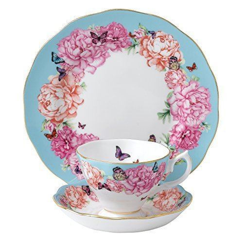 Royal Albert Devotion 3-Piece Teacup, Saucer and Plate Set Designed by Miranda - Photo Kerr Miranda