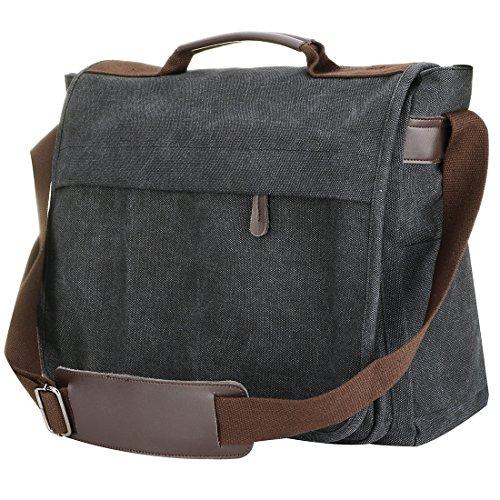 for Mens Messenger Water Laptop Briefcase Computer Canvas studen Large man Bag for Resistant Shoulder Laptop Bag Work Padded Business Freelancer Bag UNYU waBq8W