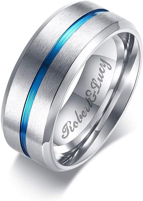 New Solid Titanium Black Ip Wedding Band Mens Groove Ring