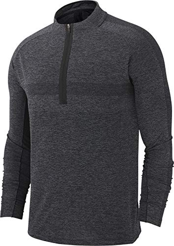 NIKE Dri Fit Top Half Zip Statement Golf Pullover 2019 Black/Dark Gray Large