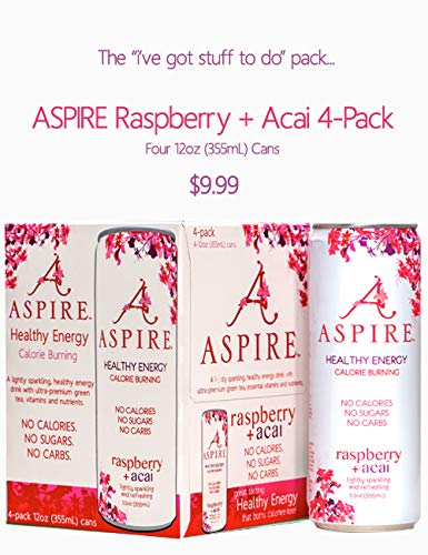 Aspire Energy Rasp Acai 4Pk 48.0 FO (Pack of 6) by Aspire (Image #1)