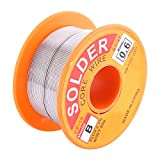 63/37 Rosin Core Solder Wire Flux 2% Tin Lead Solder Iron Welding Wire Reel 0.6/0.8/1.0mm 50g for Electrical Soldering and DIY(0.6mm 50g)