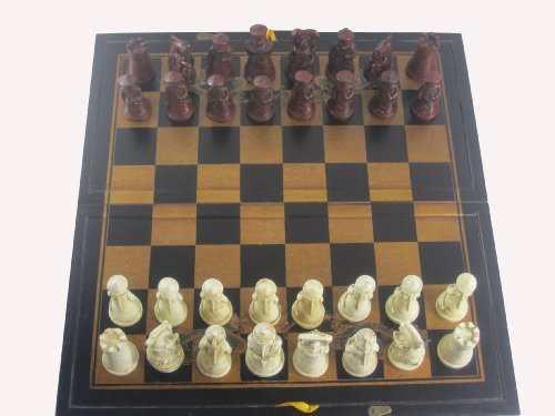 Qin Dynasty Chess Set. Black and Gold Board. ()