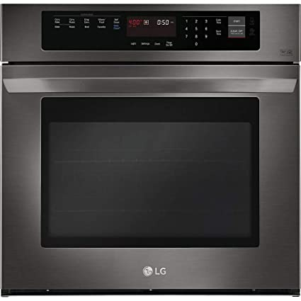 Amazoncom Lg 30 Black Stainless Steel Single Wall Oven Electronics
