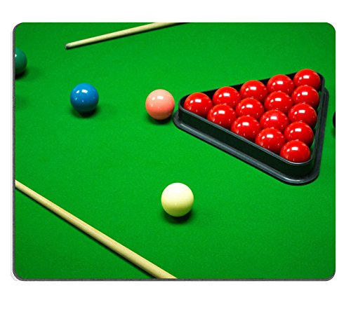 MSD Natural Rubber Mousepad snooker balls set on a green table IMAGE 35157544