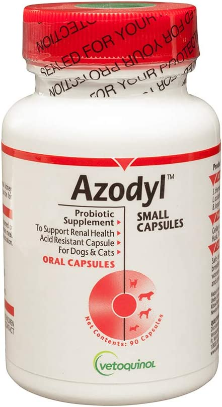 Amazon Com Vetoquinol Azodyl Kidney Health Supplement For Dogs Cats 90ct Probiotic Pet Well Being Help Support Kidney Function Manage Renal Toxins Renal Care Supplement Easy To Swallow Small