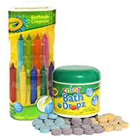 Crayola Bathtub Crayons with Crayola Color Bath Drops 60...