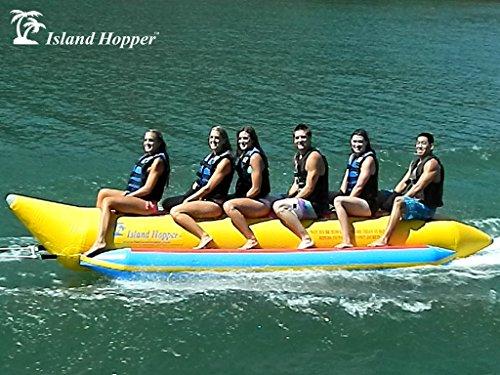 Island Hopper 6 Passenger Inline Elite Class Heavy Commercial Banana Boat Towable Tube (Hot Dog Airhead)