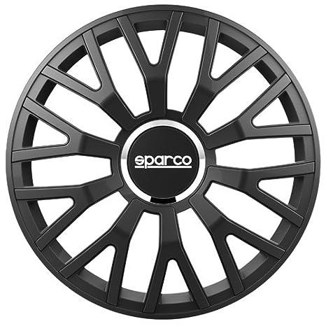 "SPARCO SPC1410BK Tapacubos Leggera, NegroMate, Set de 4, 14"""