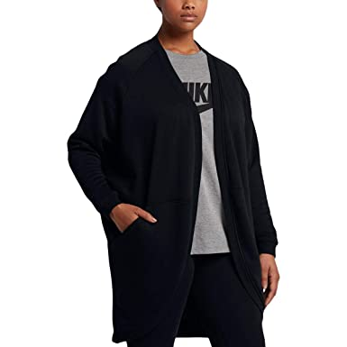 a77efabf5ccf3 Image Unavailable. Image not available for. Color  Nike Plus Size  Sportswear Open Cardigan Black 3X