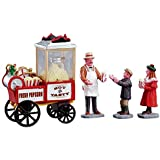 Lemax Village Collection Popcorn Seller Set of 4 #02832