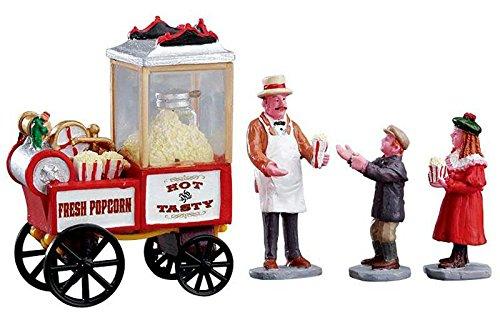 Lemax Village Collection Popcorn Seller Set of 4 #02832 (Christmas Villages Sets)