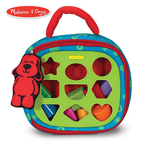 Melissa & Doug Take-Along Shape-Sorter Baby and Toddler