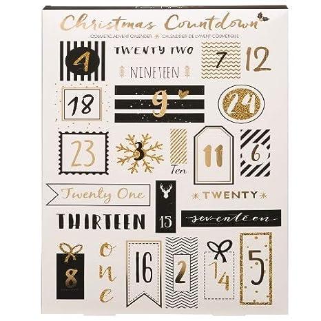 Calendario De Adviento Maquillaje.Calendario De Adviento Incluye 24 Productos De Maquillaje Y Belleza Diseno De Villa