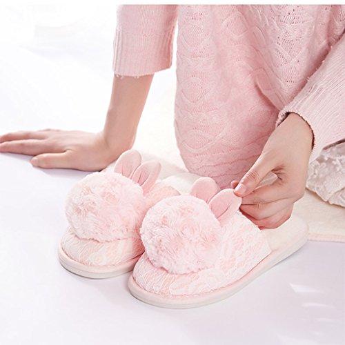 La del Pink Algodón Aire Respirables Al de DWW Deslizador de deslizadizos Comodidad del Libre Zapatos Zapatillas Señora wqF7vF